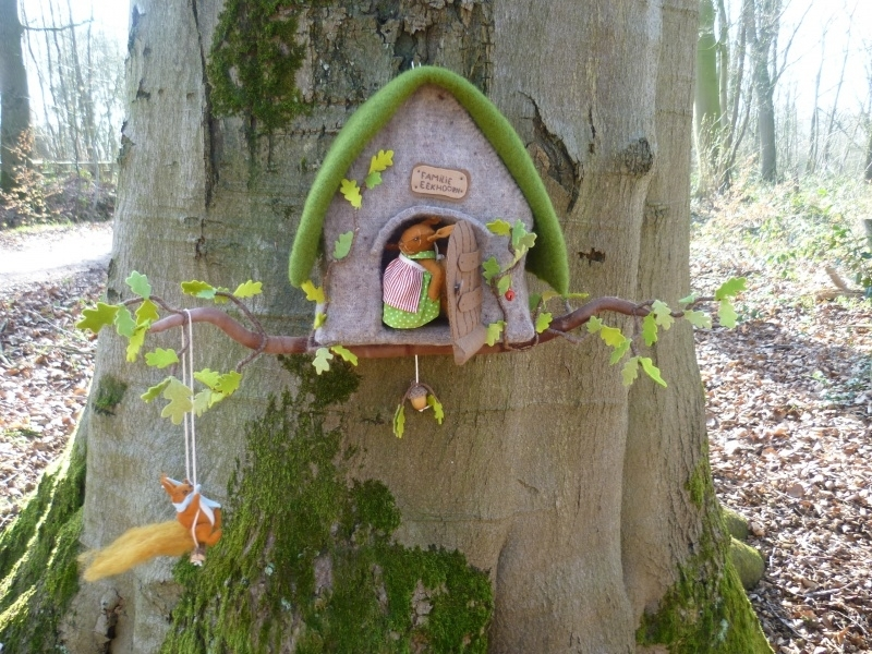 Felt Kit Squirrel house