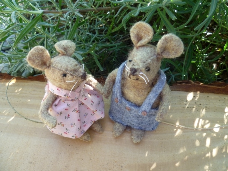 Felt Kit Mouse children with pattern