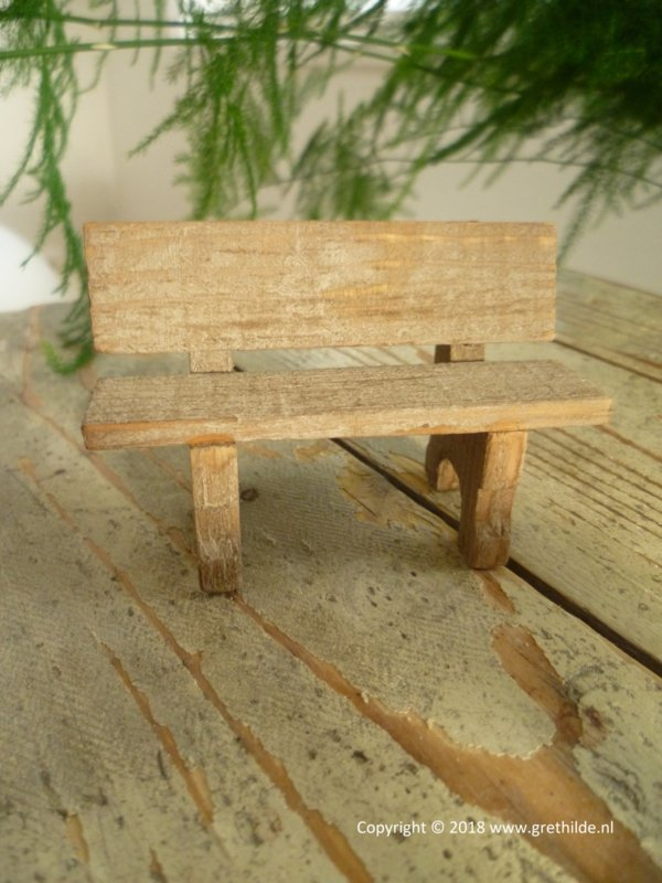 Bench of weathered wood