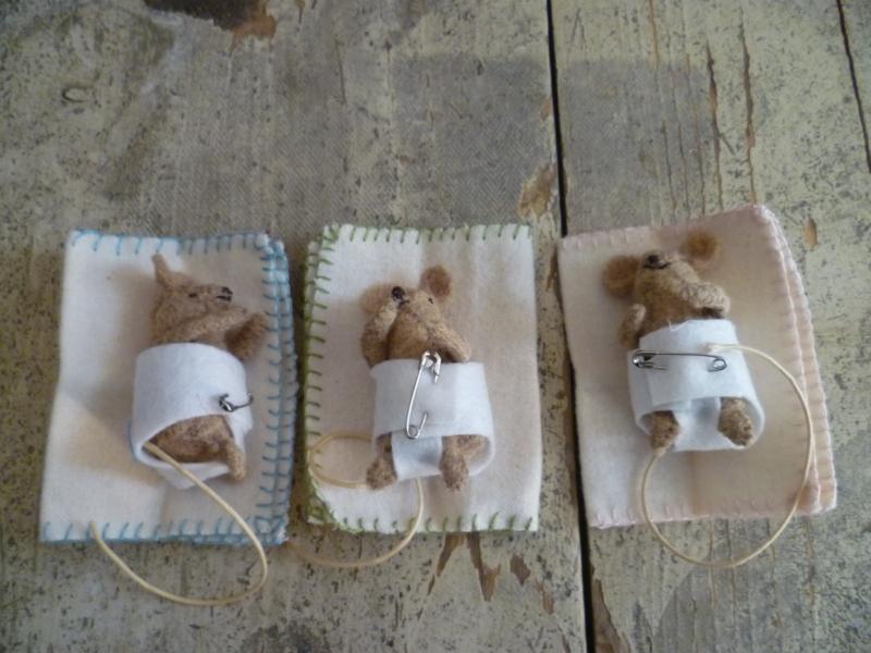 """Materiaalpakket """"Babymuisjes"""" incl. patroon"""