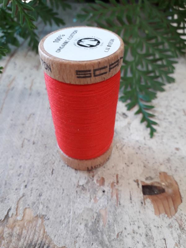 naaigaren biologisch katoen  kleur: rood