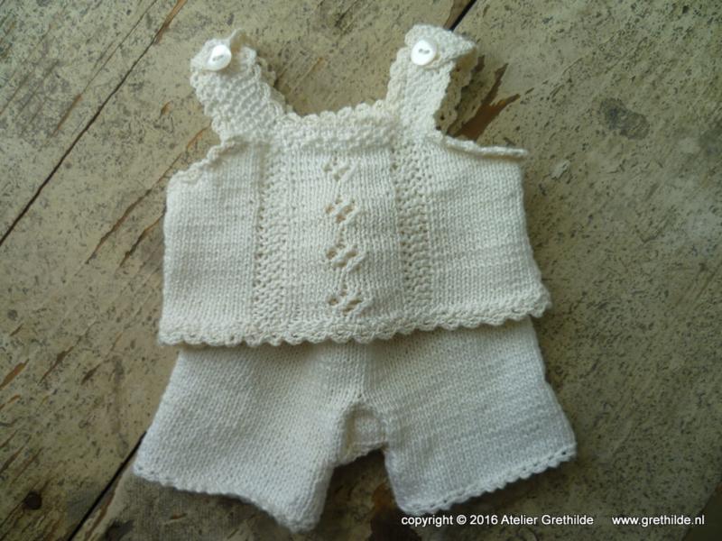 Breipatroon mét katoen voor nostalgisch ondergoed