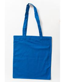 Katoenen tas met lange hengsels Blue