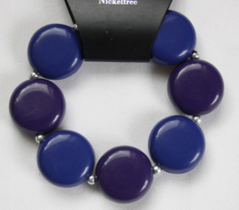 Blauw/paarse armband