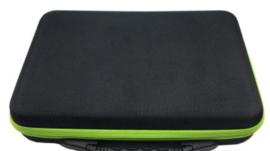 Box met 60 potjes Zwart/Fuchsia