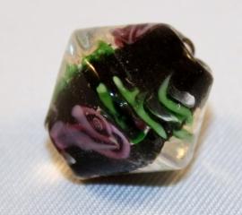 Glaskraal met bloem