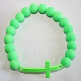 Neon armband Green Kruis