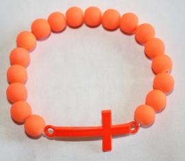 Neon armband Orange Kruis