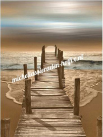 Brug op strand 40x50 cm