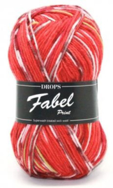 Fabel Sokkenwol RED CHILI