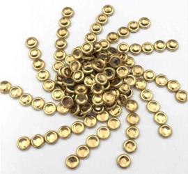 Hotfixstones Gold Rim SS16 Lt-Topaz