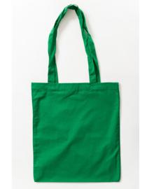 Katoenen tas met lange hengsels Dark Green