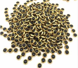 Hotfixstones Gold Rim SS10 Parel Zwart