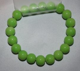 Appelgroene armband (10 mm kralen)