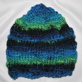 Groen/Blauwe muts