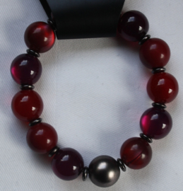Armband in rood/paars tinten