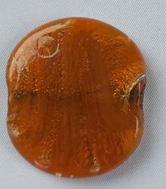 Glaskraal Amber/oranje met zilverfolie