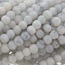 Glaskraal imitatie edelsteen rond Wit 4 mm