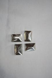 Rechthoek 10x14 mm Chrystal