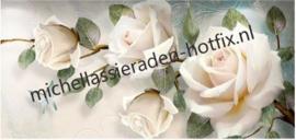 Witte rozen 80x40 cm