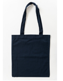 Katoenen tas met lange hengsels Deep Blue