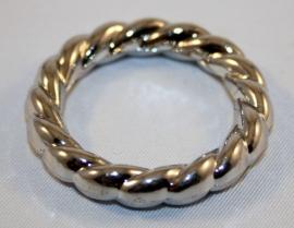 Zilverkleurige ring