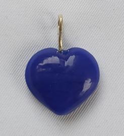 Glaskraal Hart Donker Blauw