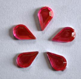 Plaksteen Druppel Rose 10x6 mm