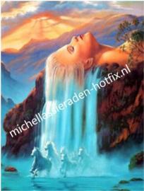 Haar waterval 29x39 cm