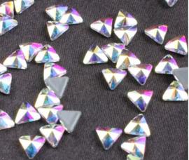 Triangle Chrystal AB 6x6 mm