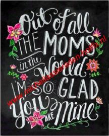 Moms (mama's) 40x60 cm