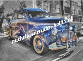 Gave Blauwe Auto 60x80 cm