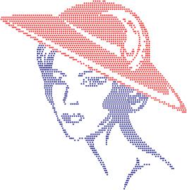 Dame met rode hoed