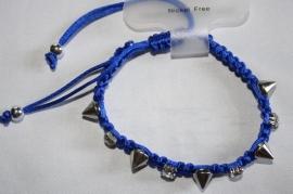 Blauw met spikes en strass
