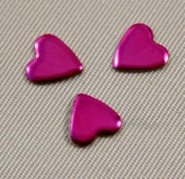 Heart 8x8 mm Fuchsia