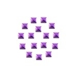 Square 5x5 mm Purple