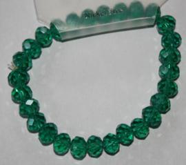 Groene facetgeslepen armband