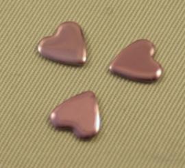 Heart 8x8 mm Pink