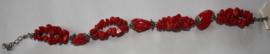 Rode Natuurstenen armband