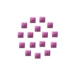 Square 5x5 mm Fuchsia