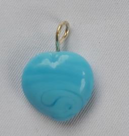 Glaskraal Hart Licht blauw