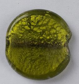 Glaskraal Olijfgroen met zilverfolie