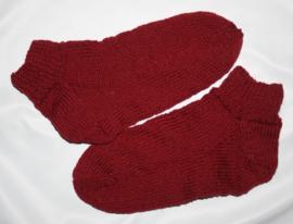 Bordeaux rode sokken maat 40/41