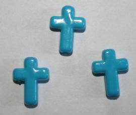 Kraal Kruisje Lichtblauw