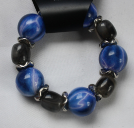 Blauw/Grijze armband