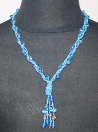 Blauwe meervoudige ketting