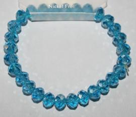 Aquablauw AB facetgeslepen armband
