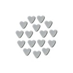 Mirror Silver Heart 4 mm