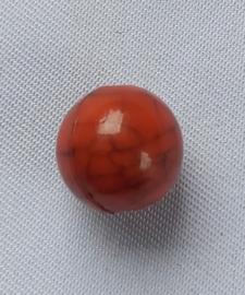 Acryl kraal craquelé look rood