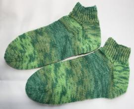 Kleurige sokken met zilverdraadje maat 36/37